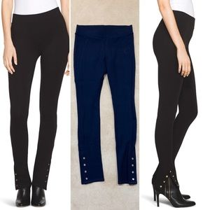WHBM | Snap Ankle Ponte Leggings | Size XS